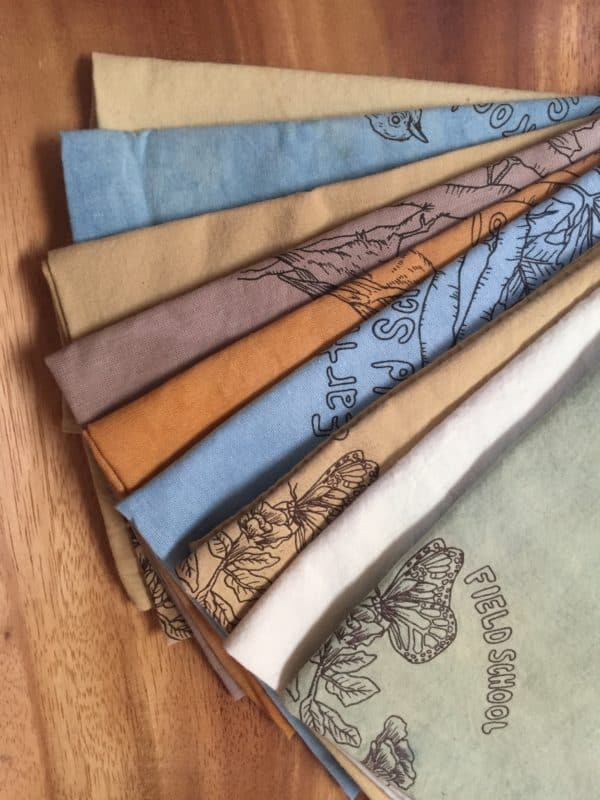 Color samples of Earthroot's bandanas