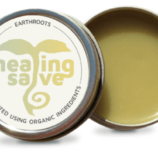 Open tin of healing salve
